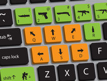Gaming Keyboard Royalty Free Stock Images