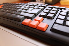 Gaming keyboard closeup Stock Photos