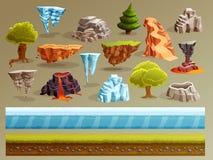 Gaming Landscape Constructor Set Royalty Free Stock Image
