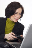 Gaming on the Laptop But Supposed to be Working Stock Photography