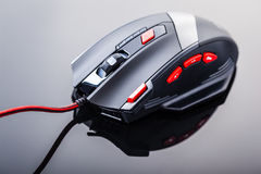 Gaming mouse with red buttons Royalty Free Stock Photography