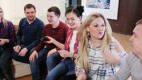 Gaming party of adult group of adult friends. Party of adult group of adult friends stock video
