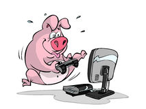 Gaming pig Stock Photography