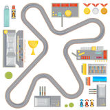 Gaming Race Track Composition Royalty Free Stock Images