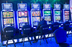 Gaming slot machines in a casino Royalty Free Stock Photography