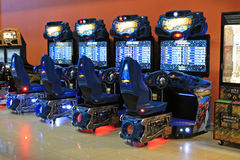 Gaming slot machines in entertainment сenter, Kiev, Ukraine Royalty Free Stock Image