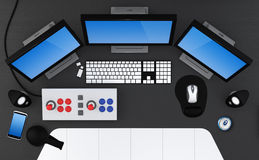 Gaming station. Gaming station concept - 3D Render Stock Image