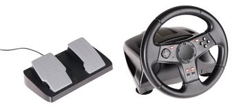 Gaming steering wheel Royalty Free Stock Photos