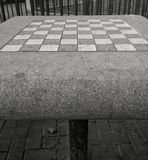 Gaming table. View of a stone gaming table in a park Royalty Free Stock Photo