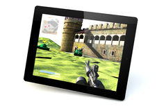 Gaming tablet Stock Photo