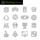 Gaming and video games related icons Royalty Free Stock Image
