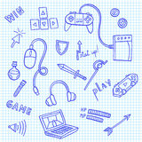 Gaming and web technology icon collection Royalty Free Stock Photography