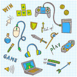 Gaming and web technology icon collection Stock Images