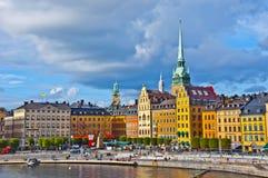 Gamla斯坦景色,斯德哥尔摩,瑞典 免版税库存图片