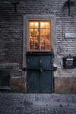 Gamla斯坦,斯德哥尔摩,瑞典商店  免版税库存图片
