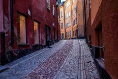 Gamla斯坦,斯德哥尔摩,瑞典街道  库存照片