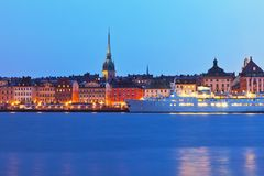 gamla老stan斯德哥尔摩瑞典城镇 免版税图库摄影