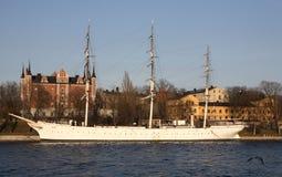 gamla船stan斯德哥尔摩 免版税库存照片