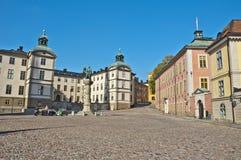Gamla斯坦景色,斯德哥尔摩,瑞典 库存图片