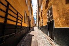 Gamla斯坦,斯德哥尔摩街道  库存照片