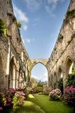 Gamla Abbaye Maritim de Beauport, i Paimpol, skjul-D`-harnesk, Brittany, Frankrike Arkivfoto
