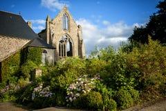 Gamla Abbaye Maritim de Beauport, i Paimpol, skjul-D`-harnesk, Brittany, Frankrike Royaltyfri Bild