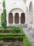 Gamla Abbey Garden Royaltyfri Foto