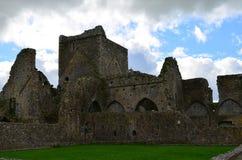Gamla Abbey Ruins i Irland Arkivbilder