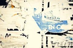 Gamla affischgrungetexturer Arkivfoto
