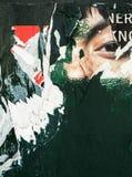 Gamla affischgrungetexturer och bakgrunder Royaltyfria Bilder