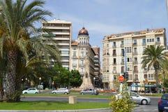 Gamla Alicante möter nytt Fotografering för Bildbyråer