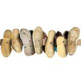 Gamla andrahands- skor Arkivfoto