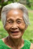 Gamla asiatiska kvinnor Royaltyfria Bilder