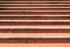 Gamla asiatiska moment för stiltegelstensten design för trappa för texturbakgrundskvarter Royaltyfri Fotografi