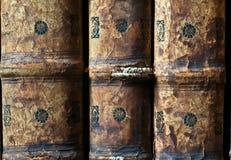 Gamla böcker i det Ricoleta arkivet i Arequipa, Peru Arkivbilder