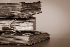 Gamla böcker och ställe för din text Royaltyfri Bild
