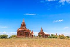Gamla Bagan i Bagan-Nyaung U, Myanmar Royaltyfri Fotografi