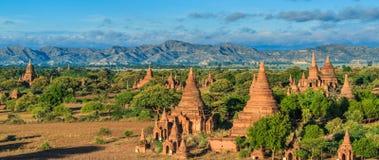 Gamla Bagan i Bagan-Nyaung U, Myanmar Arkivfoto