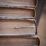Gamla böcker Arkivfoto