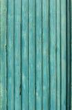 Gamla blåa träplankor, bakgrund Royaltyfria Bilder