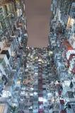 Gamla bostads- byggnader i Hong Kong Royaltyfri Foto