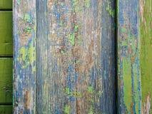 Gamla bräden med spår av målarfärg Royaltyfri Foto