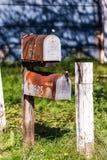 Gamla brevlådor Arkivbilder