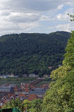 Gamla brige och Neckar River Royaltyfria Foton