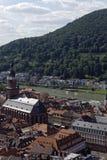 Gamla brige och Neckar River Royaltyfria Bilder