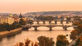 Gamla broar av Prague Royaltyfri Bild
