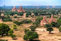 Gamla buddistiska tempel på Bagan Kingdom, Myanmar (Burman) Royaltyfri Foto