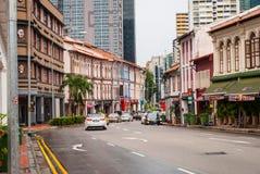 Gamla byggnader av den Singapore staden Royaltyfri Bild