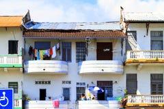 Gamla byggnader av Panama City, Royaltyfri Bild