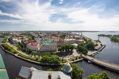 Gamla byggnader av Vyborg Royaltyfri Bild